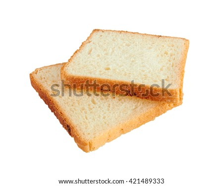 Toast isolated on white background