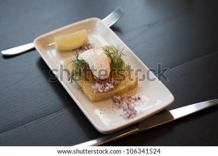 Toast skagen - stock photo