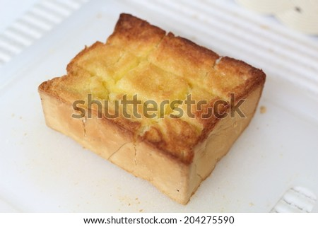 Toast with butter - stock photo