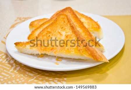 toast with butter for meal