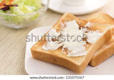 Toast with Cream Cheese