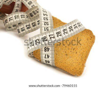 toast with measuring tape - stock photo