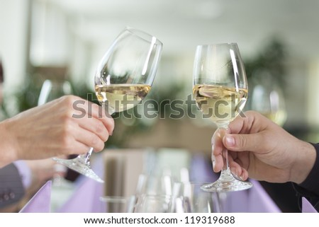 Toast with wine glasses