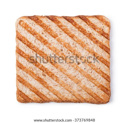 toasted bread isolated on white background