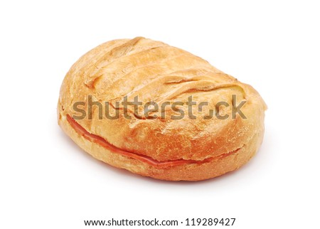 toasted sandwich on white background