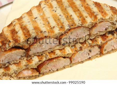 Toasted sausage sandwich