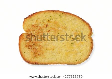 Toasted  Slice of Seasoned Garlic Bread - stock photo