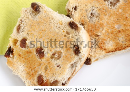 Toasted Teacakes a traditional bun filled with raisins and spices