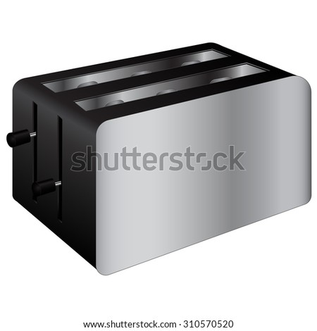 Toaster. Illustration on white background. Raster version. - stock photo