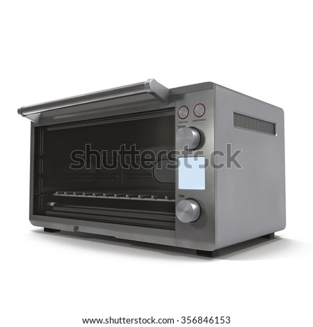Toaster Oven on White Background