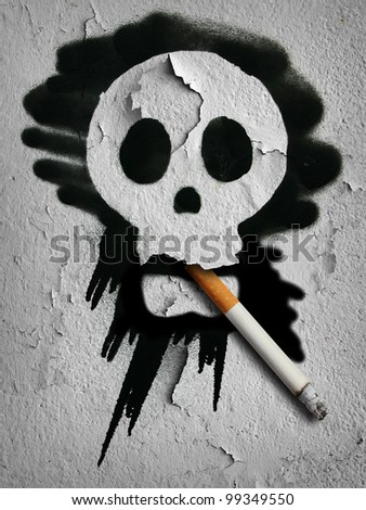 tobacco and death - stock photo