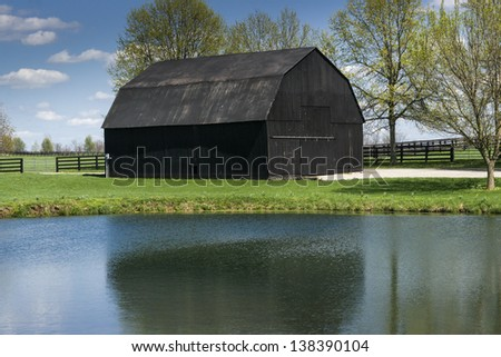 Tobacco Barn - stock photo