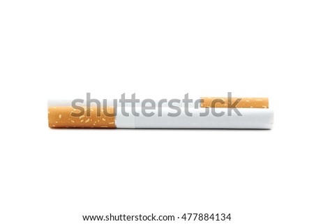 Tobacco cigarettes isolated on a white