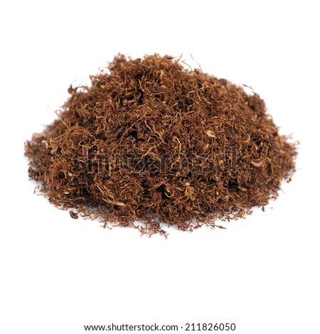 tobacco isolated on white background - stock photo