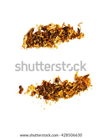 tobacco on a white background