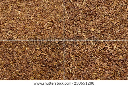 tobacco texture background set - stock photo