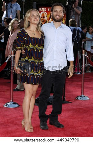 Tobey Maguire and Jennifer Meyer at the Los Angeles premiere of 'Tropic Thunder' held at the Mann Village Theater in Westwood, USA on August 11, 2008.