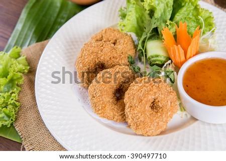 Tod Mun Goong Thai Food Deep Fried Shrimp Cakes