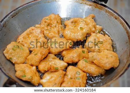 Tod Mun , Thai food - stock photo