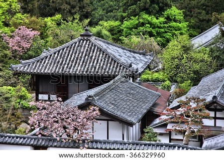 Todaiji Temple grounds in Nara, Japan. Japanese landmark. - stock photo