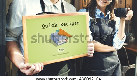 Today's Special Quick Recipes Menu LUnch Concept - stock photo