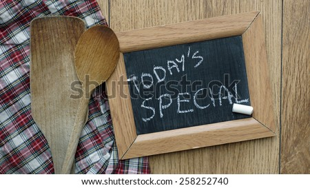 Today's special written - stock photo