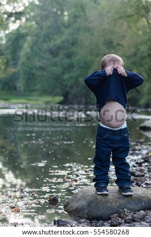Boy Belly Button Stock Images Royalty Free Images