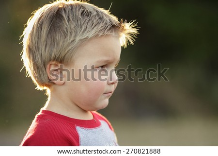 Toddler Headshot - stock photo