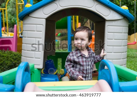 Toddler in playground