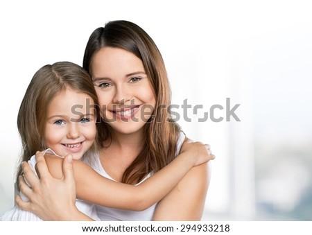 Toddler, infant, mom. - stock photo