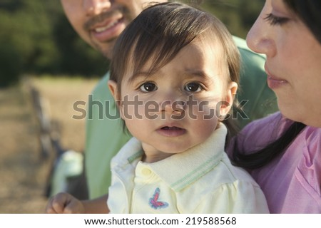 Toddler with family