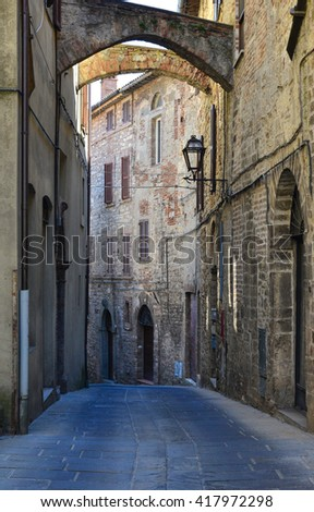 Todi, Umbria (Italy) - For University of Kentucky (1991) is the most livable city in the world - stock photo
