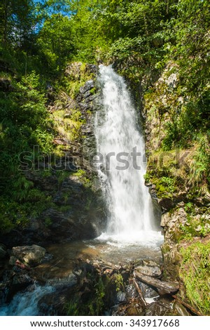 Todtnauer waterfalls, Black Forest, Baden-Wuerttemberg, Germany, Europe