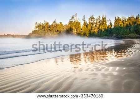 Tofino beach at Vancouver island