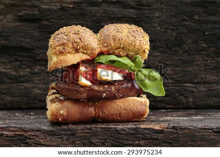 tofuburger - stock photo
