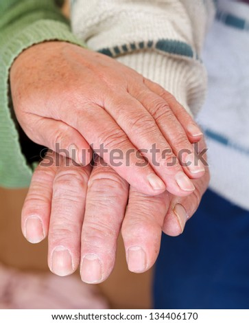 Together through thick and thin and enjoyed every minute of it - stock photo