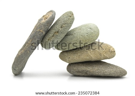 TOGETHER WE CAN Several stones put together to create a safe passage. - stock photo