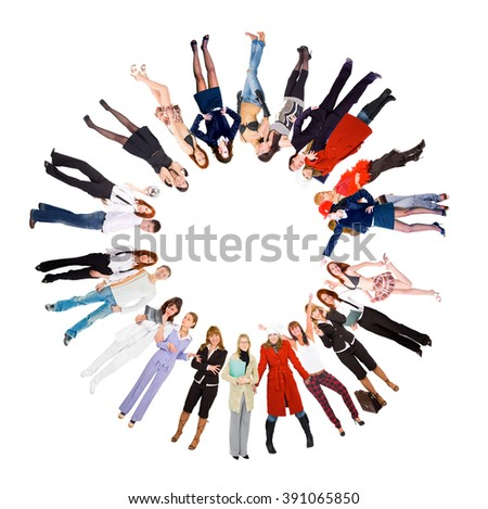 Together we Stand Concept Image  - stock photo