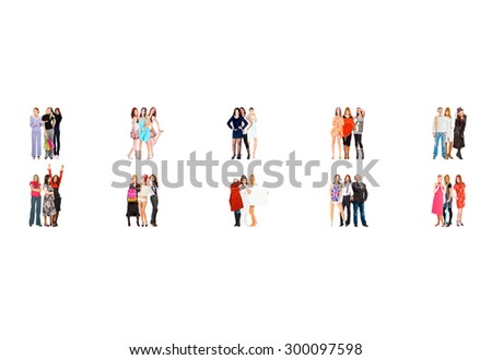 Together we Stand Corporate Teamwork  - stock photo