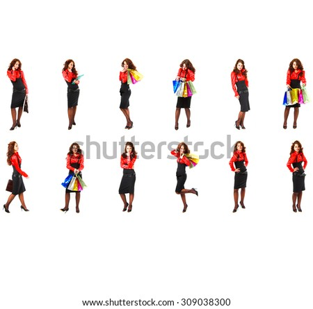 Together we Stand Isolated Groups  - stock photo
