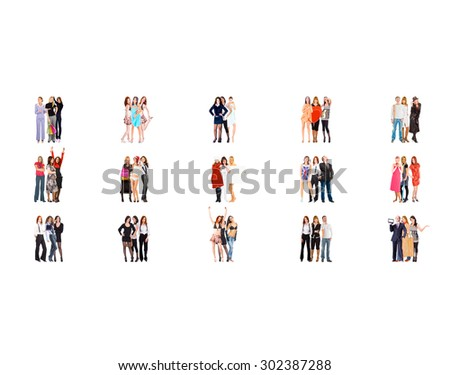 Together we Stand Office Culture  - stock photo