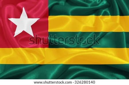 Togo Flag - stock photo