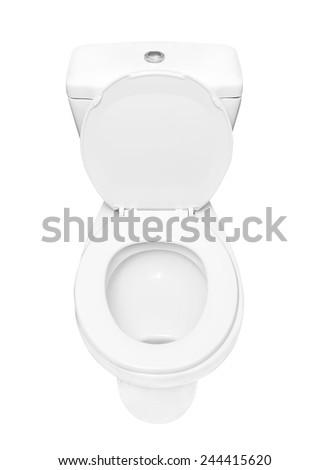 toilet bowl - stock photo