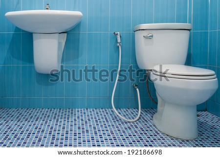 Toilet  in a building interior - stock photo