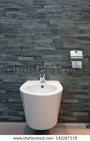 Toilet in the bathroom - stock photo