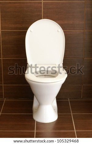 Toilet in the bathroom - a hotel room - stock photo