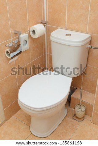 Toilet in the bathroom. microstock photos