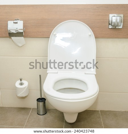 Toilet in the bathroom. Photo for microstock - stock photo