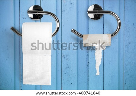 Toilet Paper. - stock photo