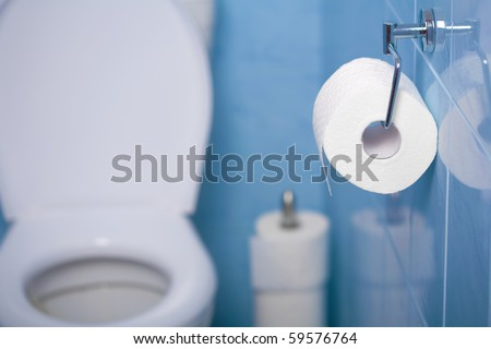toilet paper - stock photo